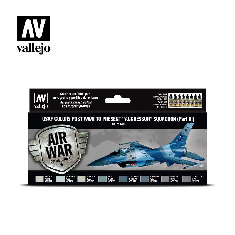 Vallejo Model Air - Usaf Colors Post Wwii To Present Aggressor Squadron - Vallejo - VAL-71618