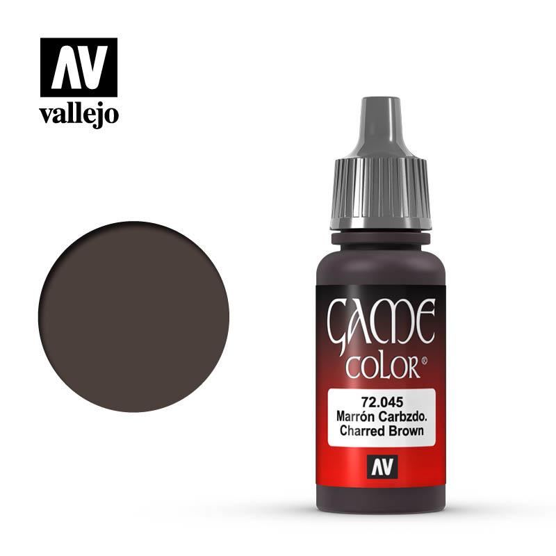 Vallejo Game Color - Charred Brown - 17 ml - Vallejo - VAL-72045