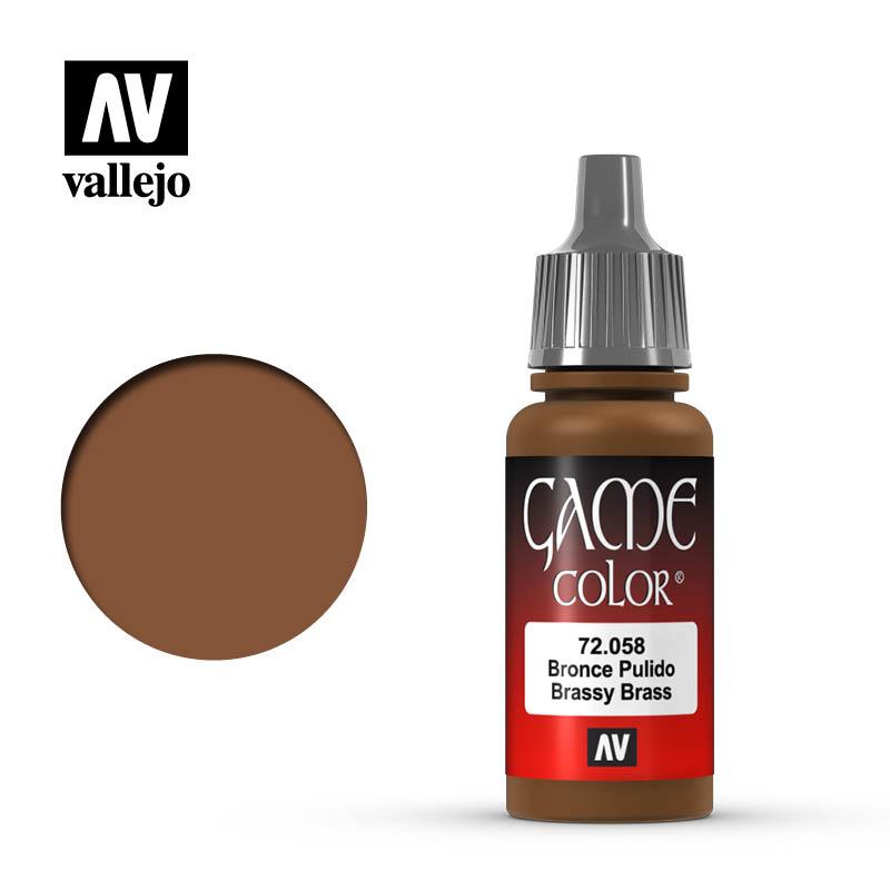 Vallejo Game Color - Brassy Brass - 17 ml - Vallejo - VAL-72058