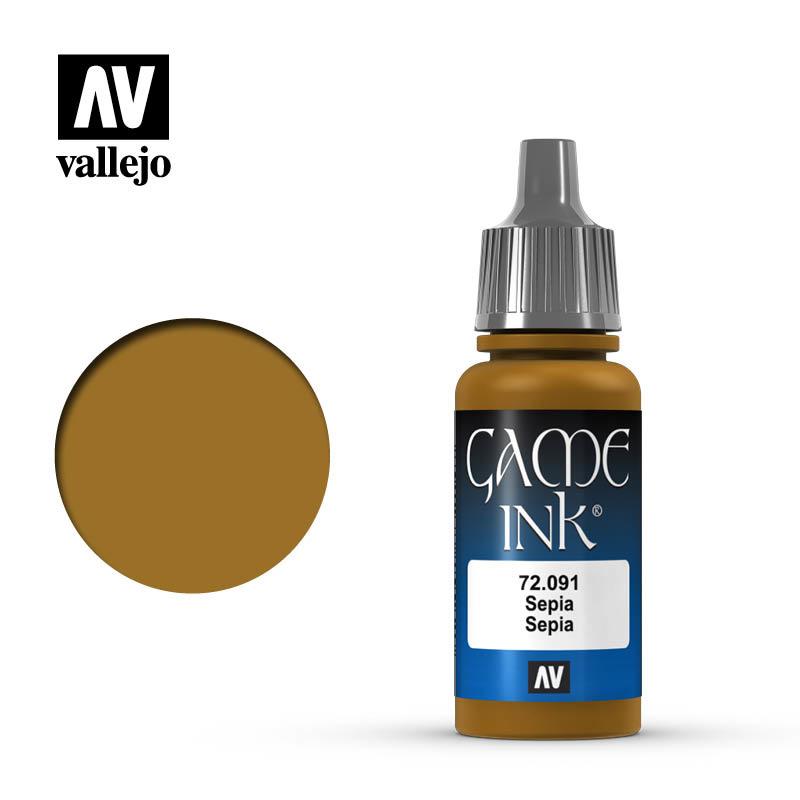 Vallejo Game Color - Game Ink Sepia - 17 ml - Vallejo - VAL-72091