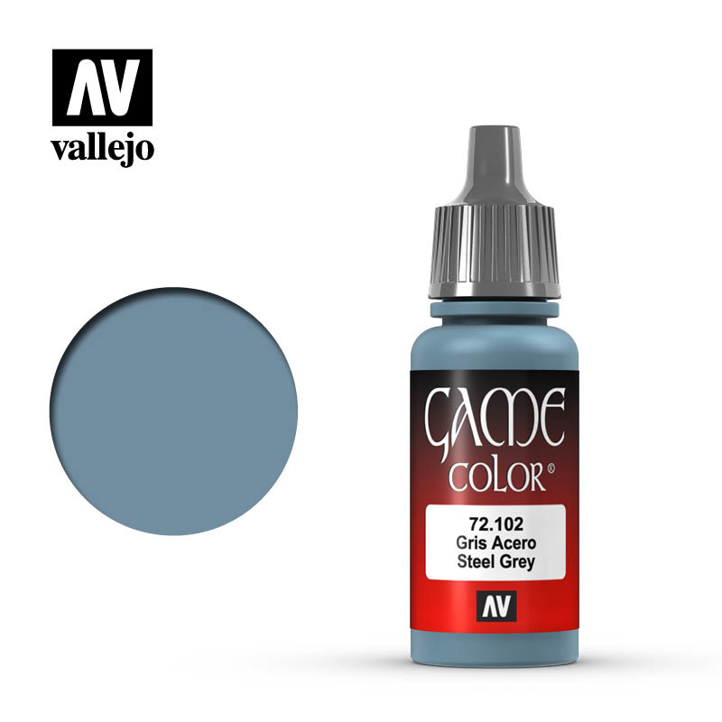Vallejo Game Color - Steel Grey - 17 ml - Vallejo - VAL-72102