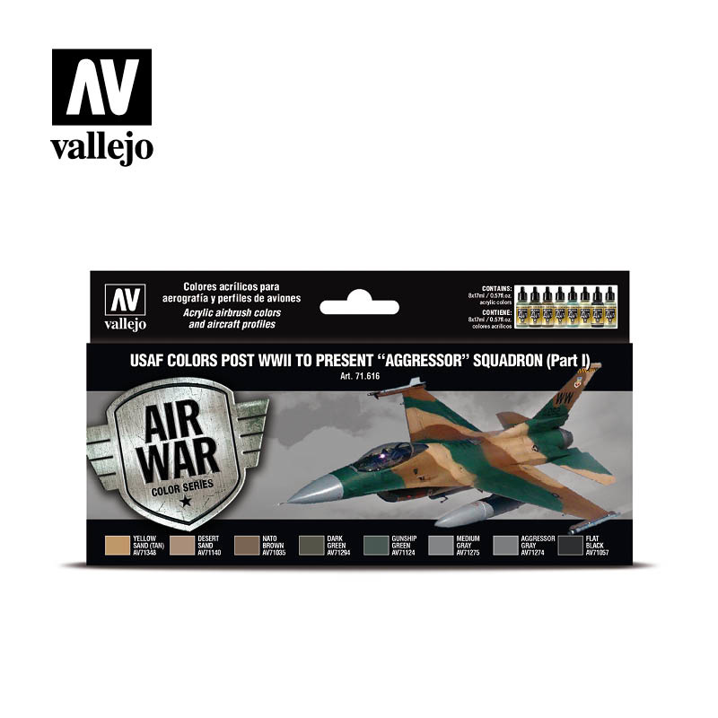 Vallejo Model Air - Usaf Colors Post Wwii To Present Aggress - Vallejo - VAL-71616