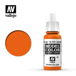 Model Color - Orange Fluorescent - 17 ml - Vallejo - VAL-70733