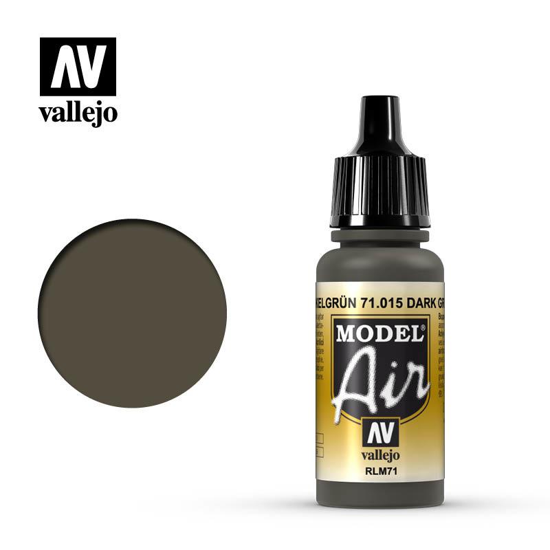 Vallejo Model Air - Dark Green Rlm71 - 17 ml - Vallejo - VAL-71015