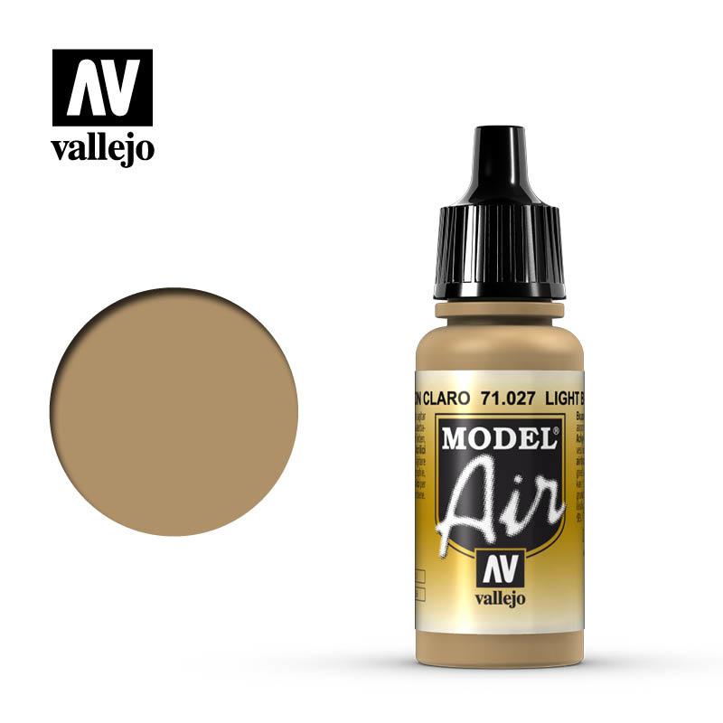 Vallejo Model Air - Light Brown - 17 ml - Vallejo - VAL-71027