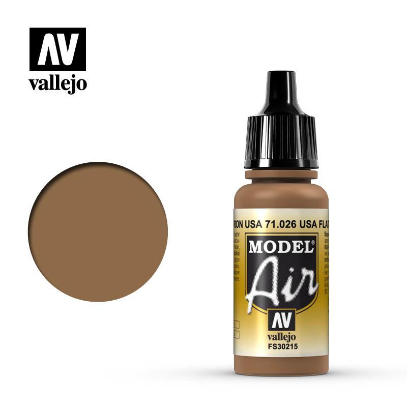 Vallejo Model Air - Us Flat Brown - 17 ml - Vallejo - VAL-71026
