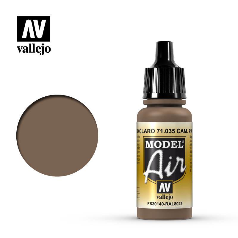 Vallejo Model Air - Camouflage Light Brown - 17 ml - Vallejo - VAL-71035