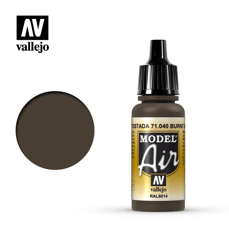 Vallejo Model Air - Burnt Umber - 17 ml - Vallejo - VAL-71040
