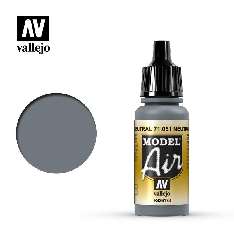 Vallejo Model Air - Neutral Gray - 17 ml - Vallejo - VAL-71051