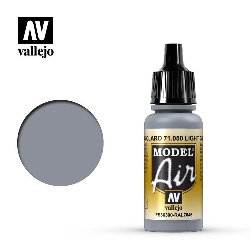 Vallejo Model Air - Light Grey - 17 ml - Vallejo - VAL-71050