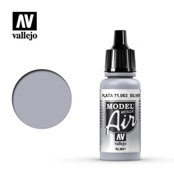Model Air - Silver - 17 ml - Vallejo - VAL-71063