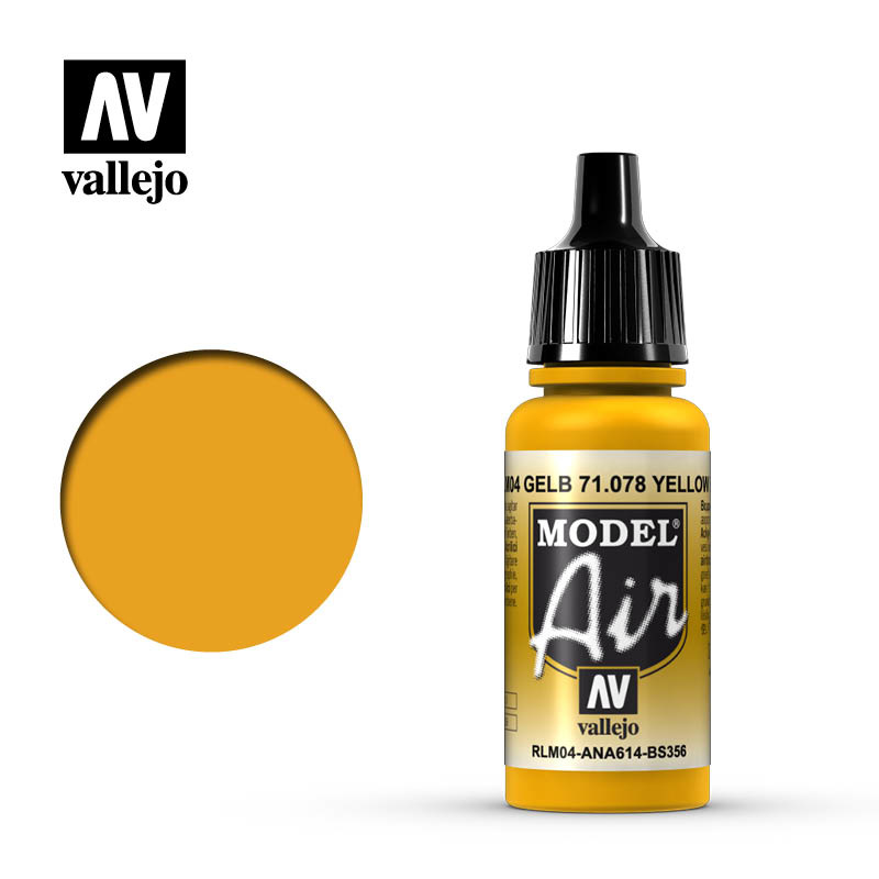Vallejo Model Air - Gold Yellow - 17 ml - Vallejo - VAL-71078