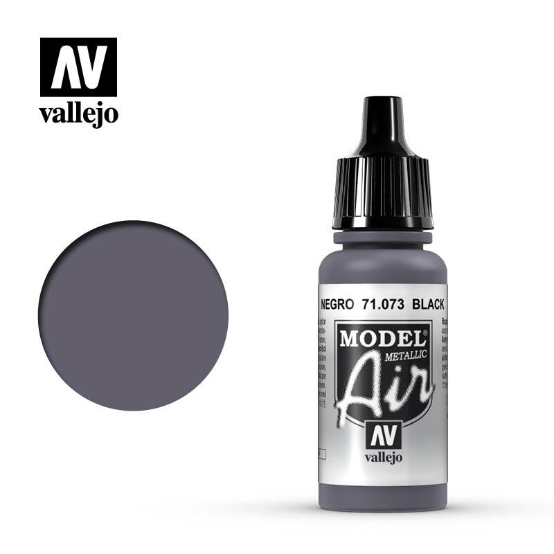 Vallejo Model Air - Black Metall - 17 ml - Vallejo - VAL-71073
