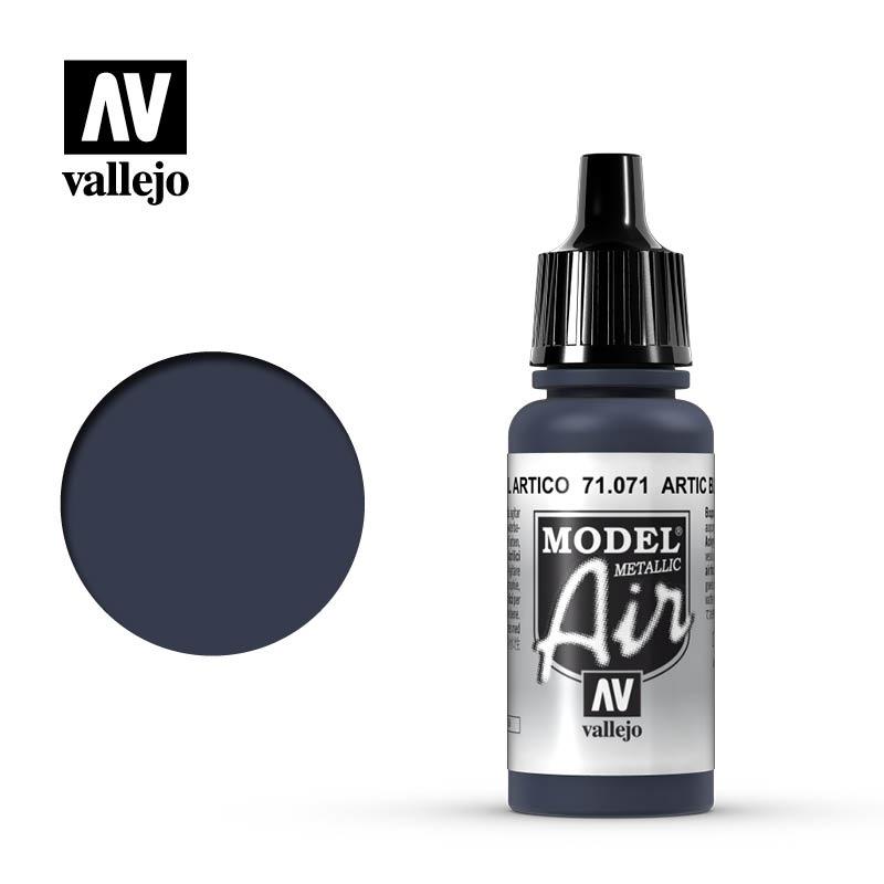 Vallejo Model Air - Artic Blue Met. - 17 ml - Vallejo - VAL-71071