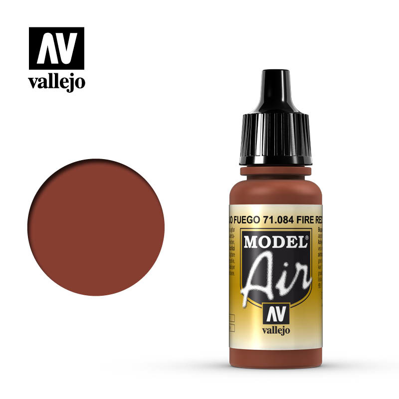 Vallejo Model Air - Fire Red - 17 ml - Vallejo - VAL-71084