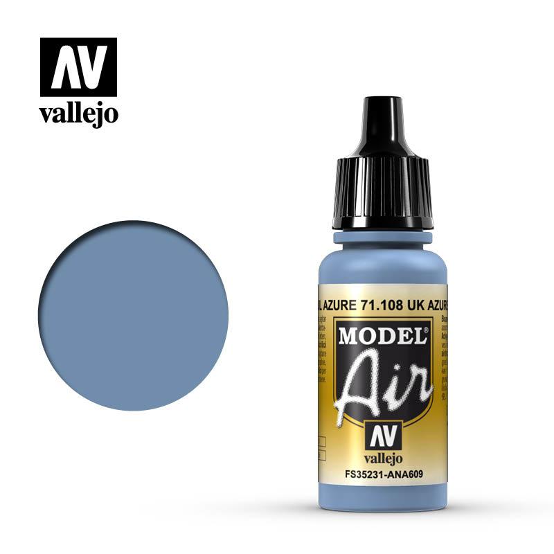 Vallejo Model Air - Uk Azure - 17 ml - Vallejo - VAL-71108