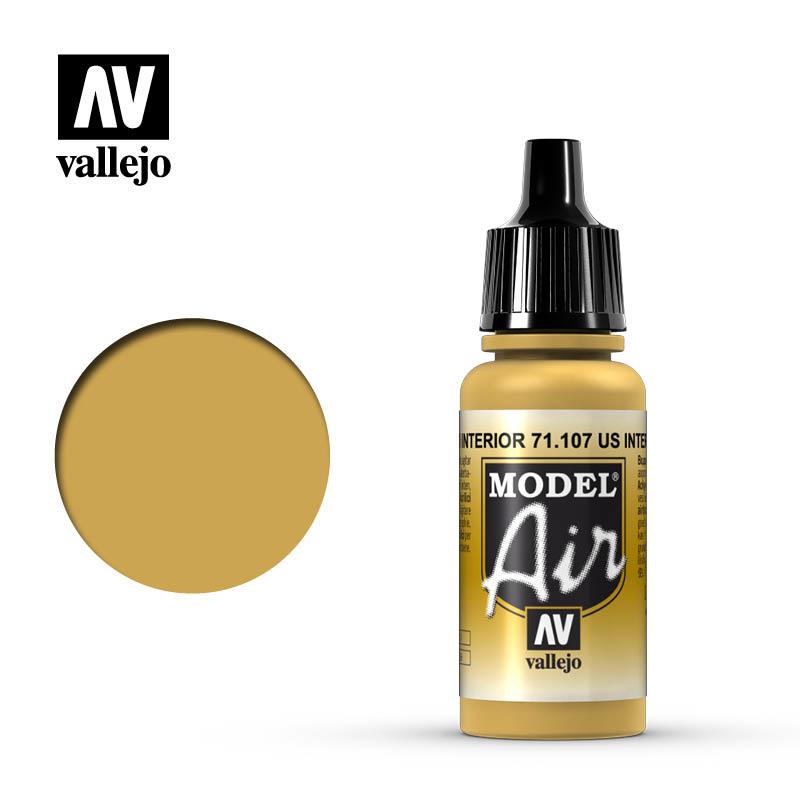 Vallejo Model Air - Us Interior Yellow - 17 ml - Vallejo - VAL-71107