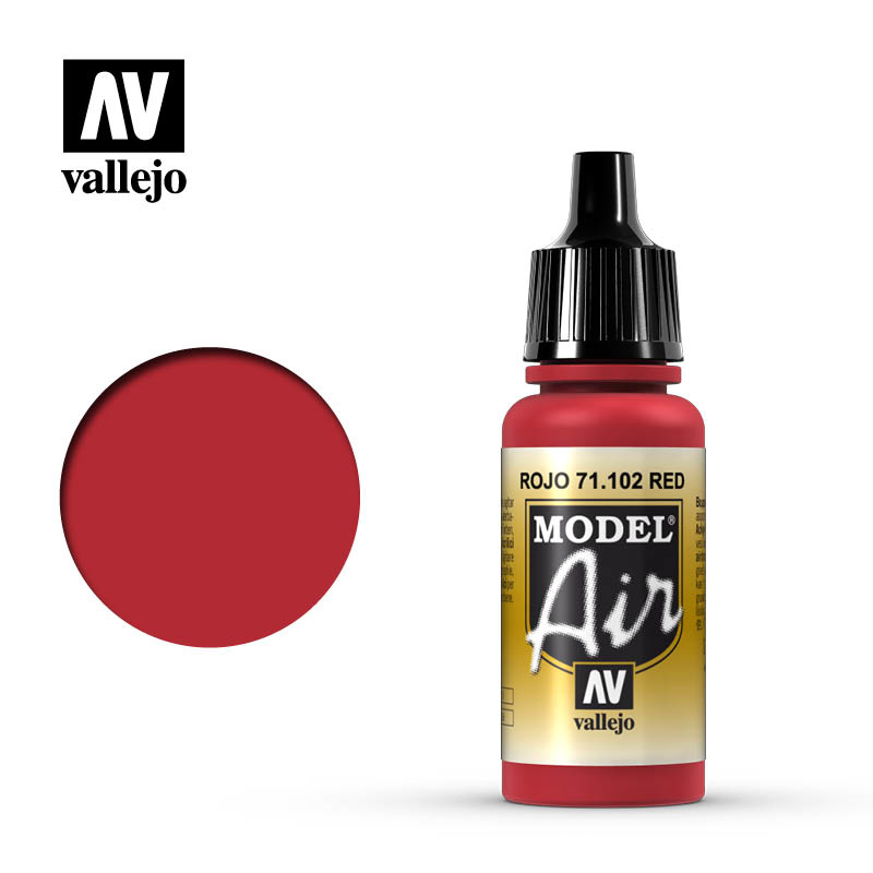 Vallejo Model Air - Red - 17 ml - Vallejo - VAL-71102