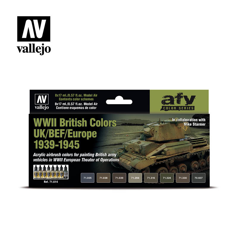 Vallejo Model Air - Wwii British Colors Uk/Bef/Europe 1939-1 - Vallejo - VAL-71614