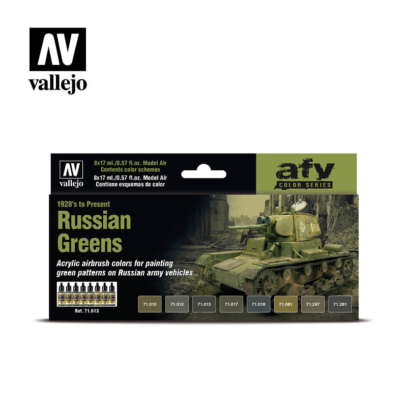 Vallejo Model Air - Russian Greens (1928'S To Present) - Vallejo - VAL-71613