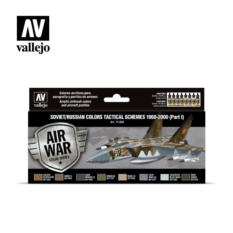 Vallejo Model Air - Soviet / Russian Colors Tactical Schemes - Vallejo - VAL-71609