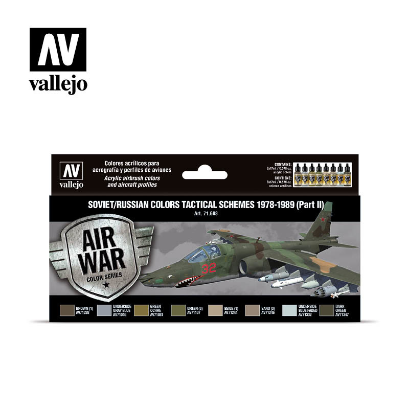 Vallejo Model Air - Soviet / Russian Colors Tactical Schemes - Vallejo - VAL-71608