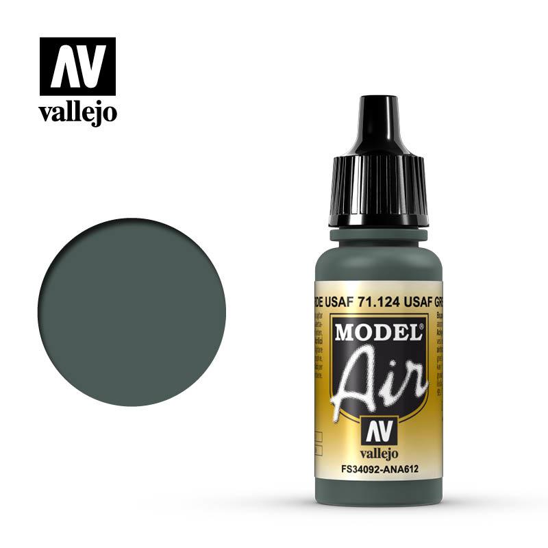 Vallejo Model Air - Usaf Green - 17 ml - Vallejo - VAL-71124