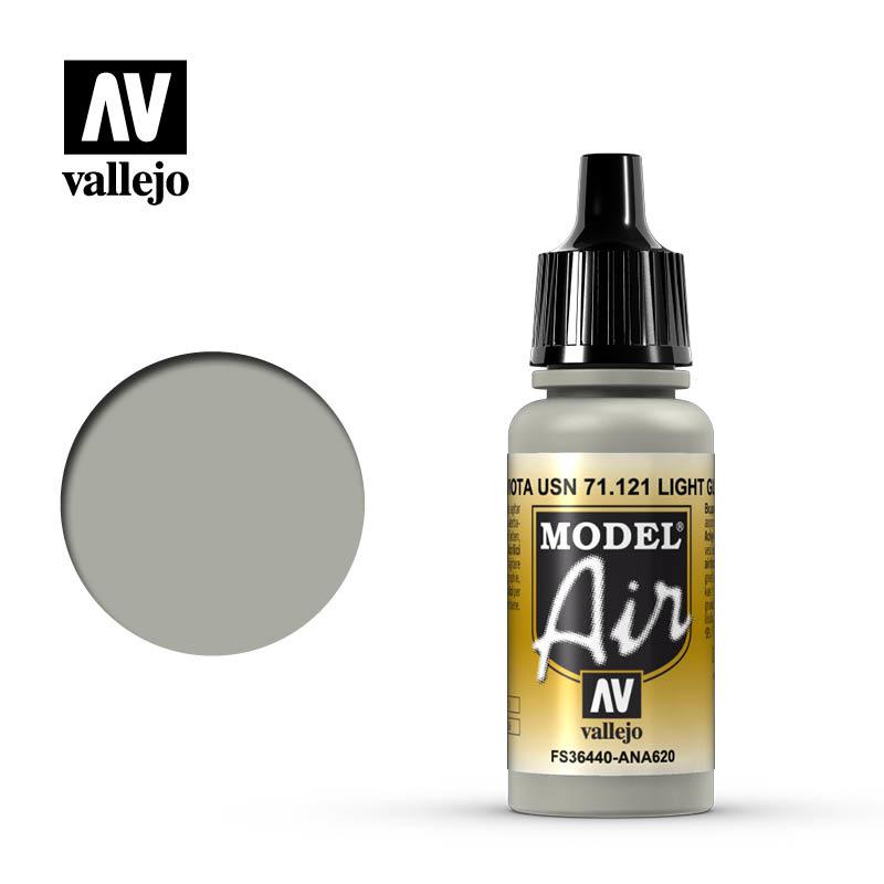 Vallejo Model Air - Light Gull Gray - 17 ml - Vallejo - VAL-71121