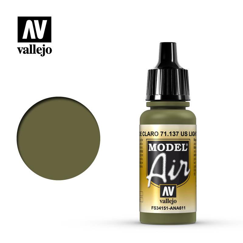 Vallejo Model Air - Us Light Green - 17 ml - Vallejo - VAL-71137