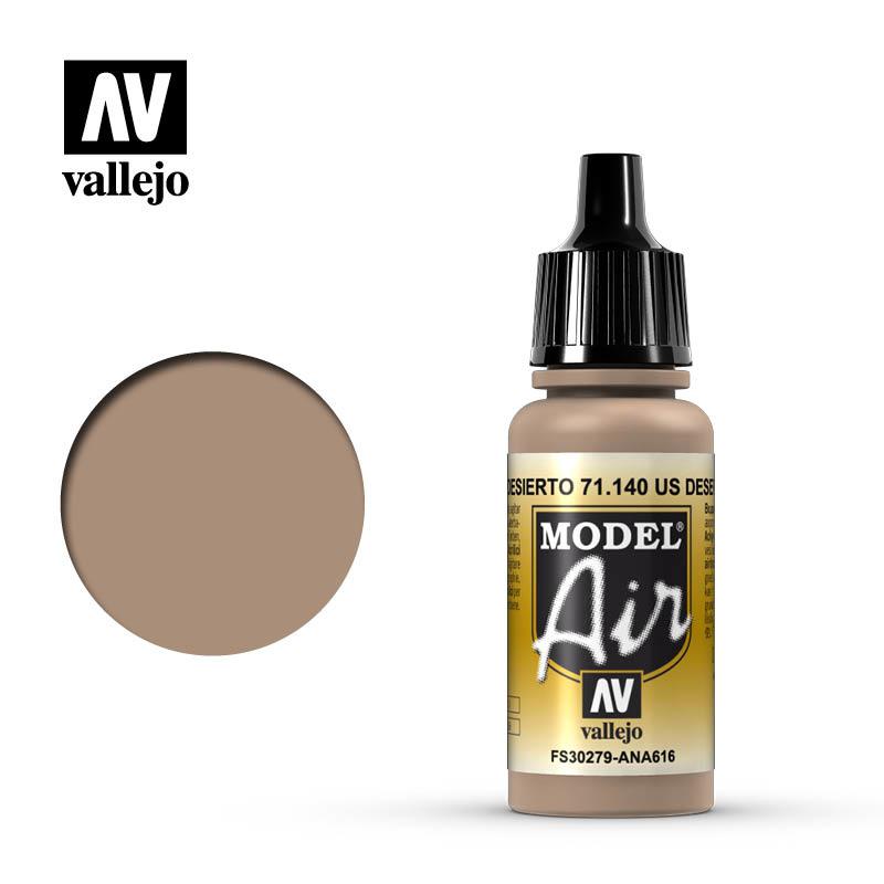Vallejo Model Air - Us Desert Sand - 17 ml - Vallejo - VAL-71140