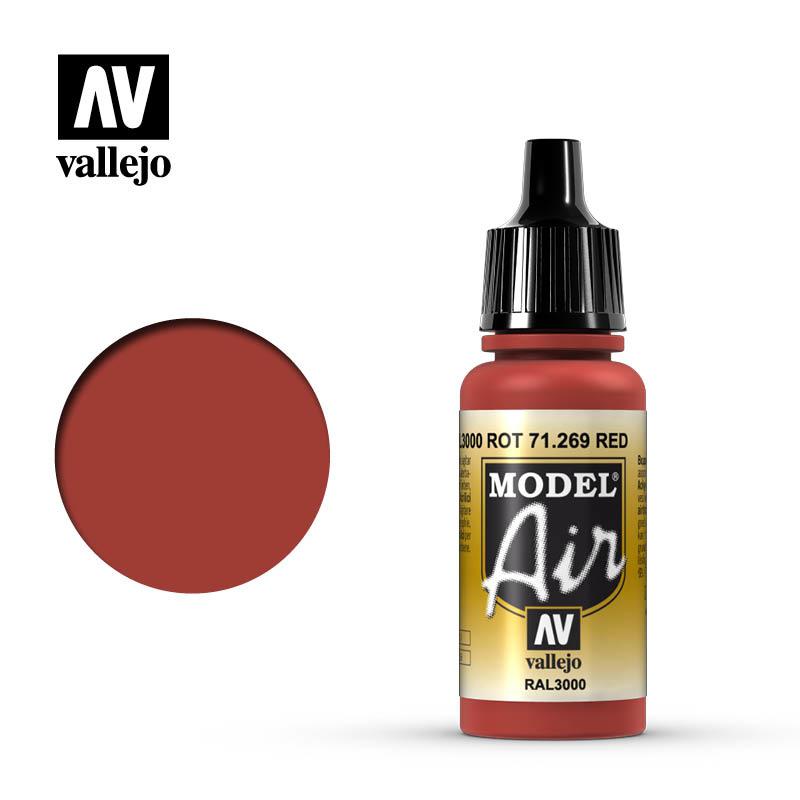 Vallejo Model Air - Red - 17 ml - Vallejo - VAL-71269