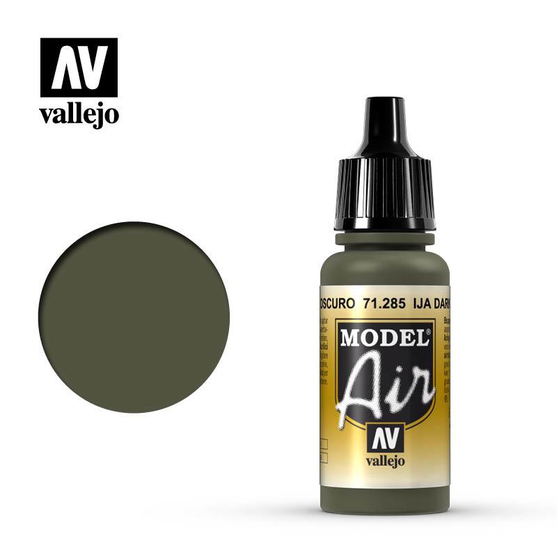 Vallejo Model Air - Ija Dark Green - 17 ml - Vallejo - VAL-71285