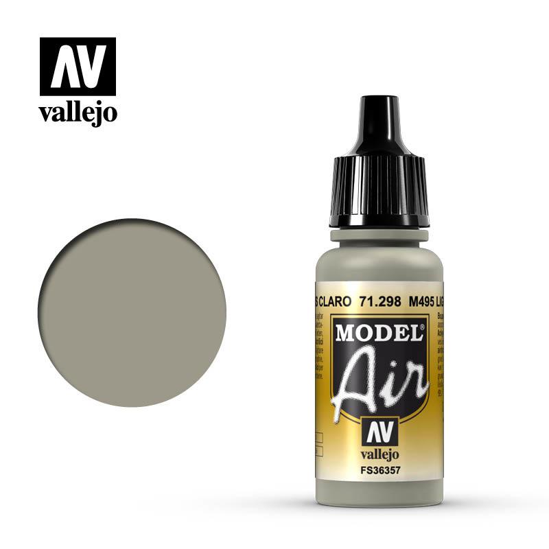 Vallejo Model Air - M495 Light Gray - 17 ml - Vallejo - VAL-71298