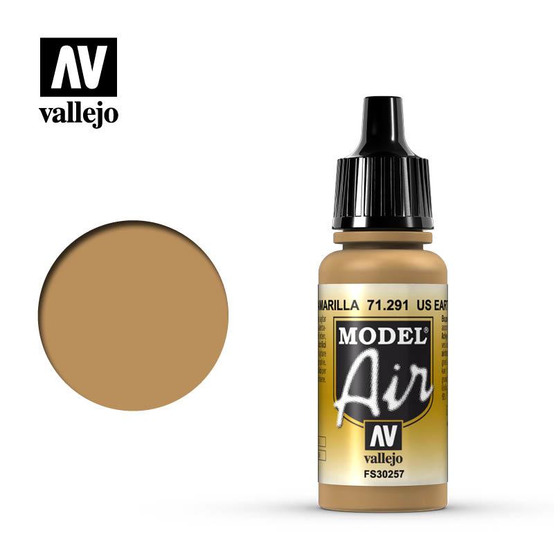 Vallejo Model Air - Us Earth Yellow - 17 ml - Vallejo - VAL-71291