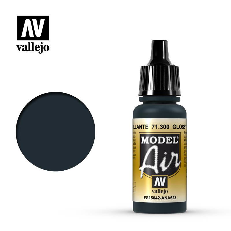 Vallejo Model Air - Glossy Sea Blue - 17 ml - Vallejo - VAL-71300
