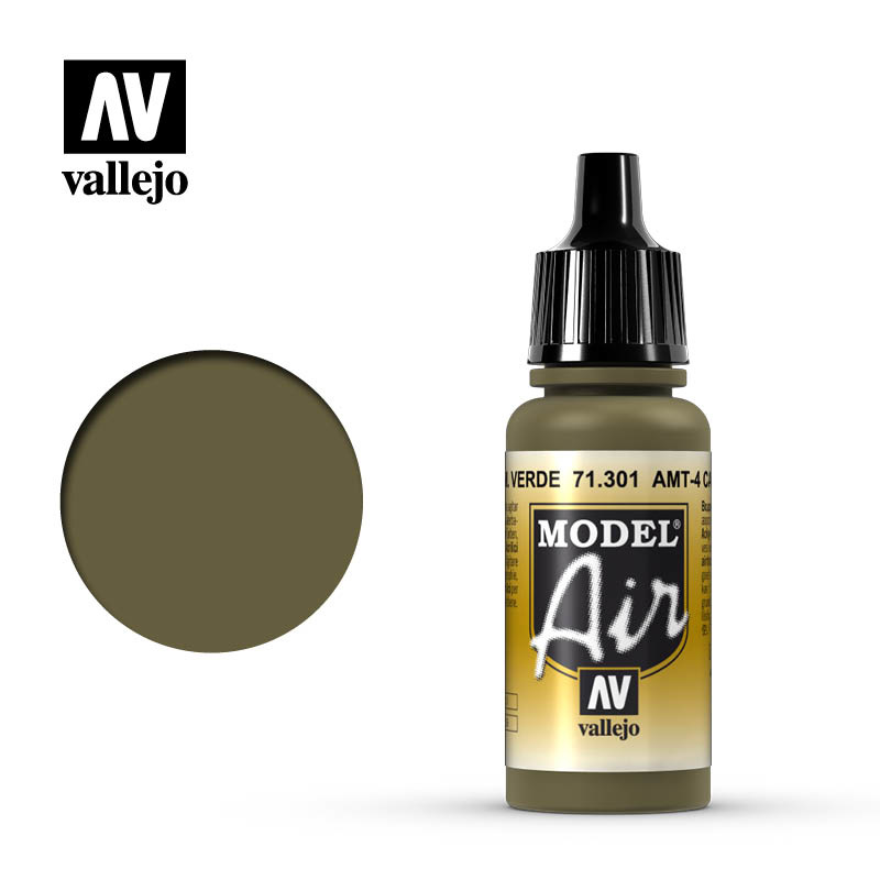 Vallejo Model Air - Amt-4 Camouflage Green - 17 ml - Vallejo - VAL-71301