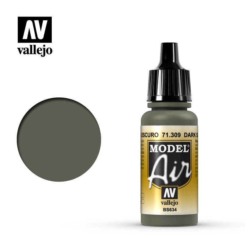 Vallejo Model Air - Dark Slate Grey - 17 ml - Vallejo - VAL-71309