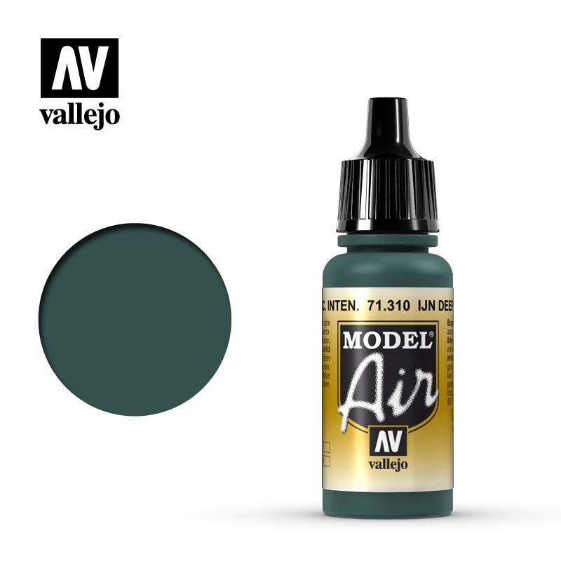 Vallejo Model Air - Ijn Deep Dark Green - 17 ml - Vallejo - VAL-71310
