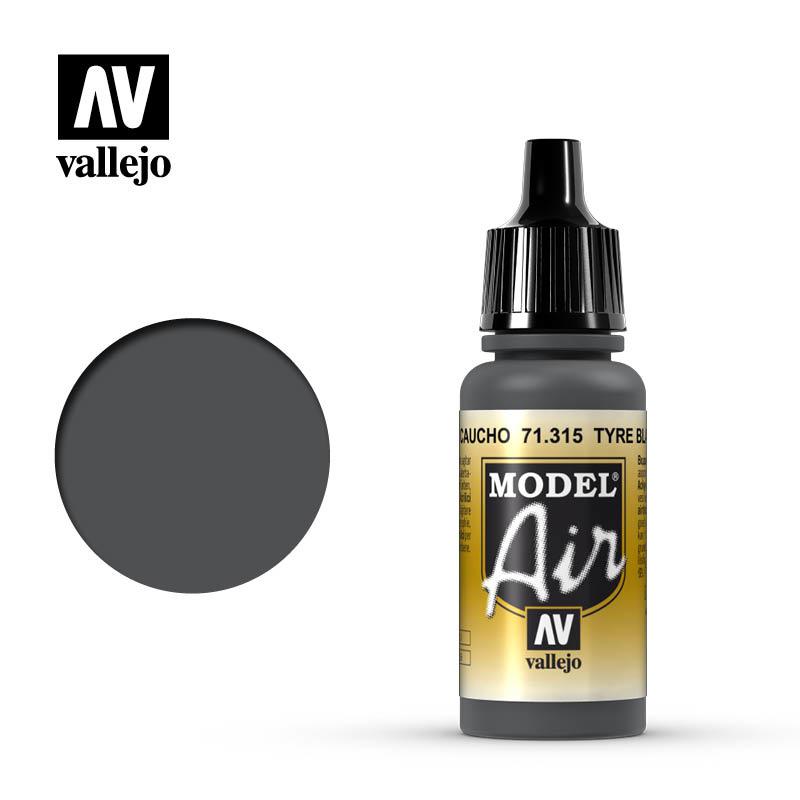 Vallejo Model Air -Tyre Black - 17 ml - Vallejo - VAL-71315