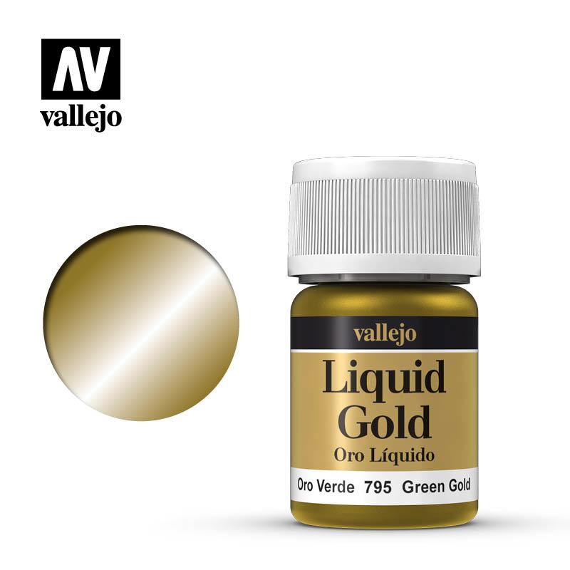 Vallejo Model Color - Green Gold - 35 ml - Vallejo - VAL-70795