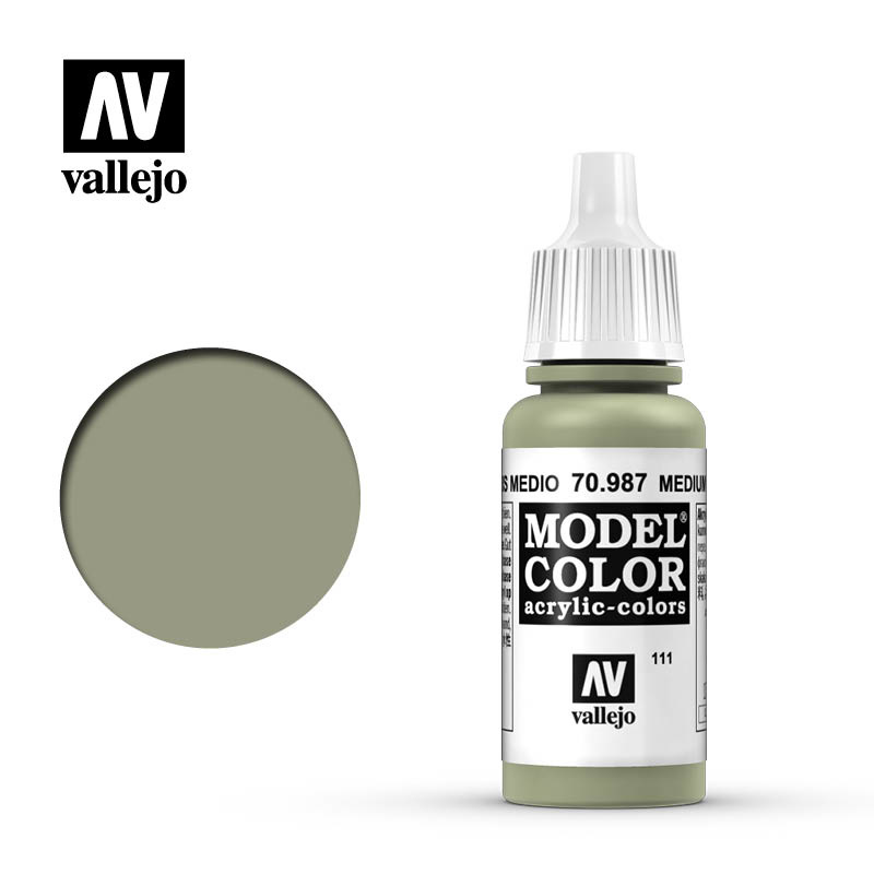 Vallejo Model Color - Medium Grey - 17 ml - Vallejo - VAL-70987