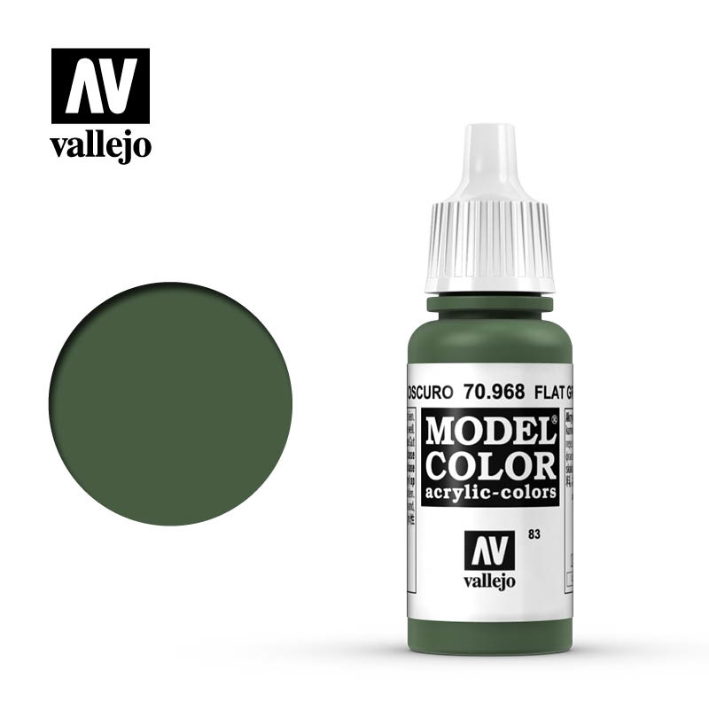 Vallejo Model Color - Flat Green - 17 ml - Vallejo - VAL-70968