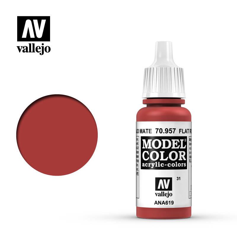 Vallejo Model Color - Flat Red - 17 ml - Vallejo - VAL-70957
