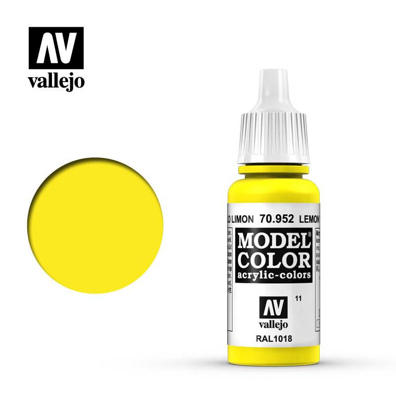 Vallejo Model Color - Lemon Yellow - 17 ml - Vallejo - VAL-70952