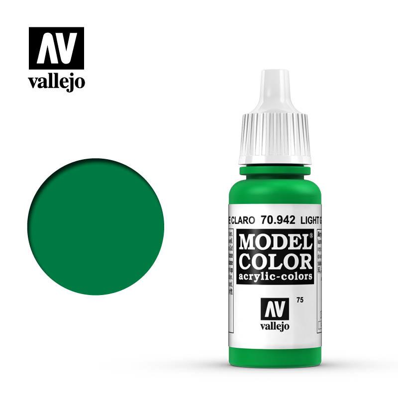 Vallejo Model Color - Light Green - 17 ml - Vallejo - VAL-70942