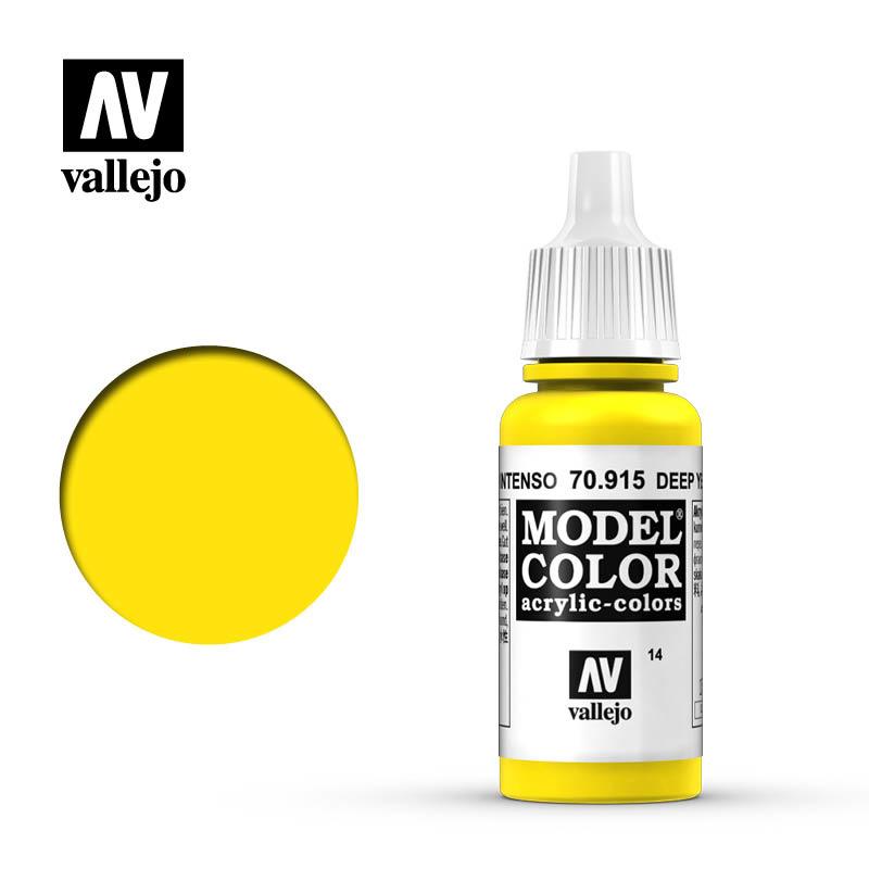 Vallejo Model Color - Deep Yellow - 17 ml - Vallejo - VAL-70915