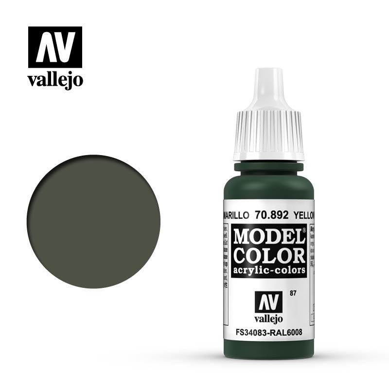 Vallejo Model Color - Yellow Olive - 17 ml - Vallejo - VAL-70892