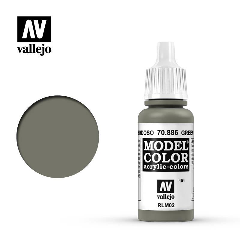 Vallejo Model Color - Green Gray - 17 ml - Vallejo - VAL-70886