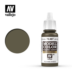 Model Color - Us Olive Drab - 17 ml - Vallejo - VAL-70887