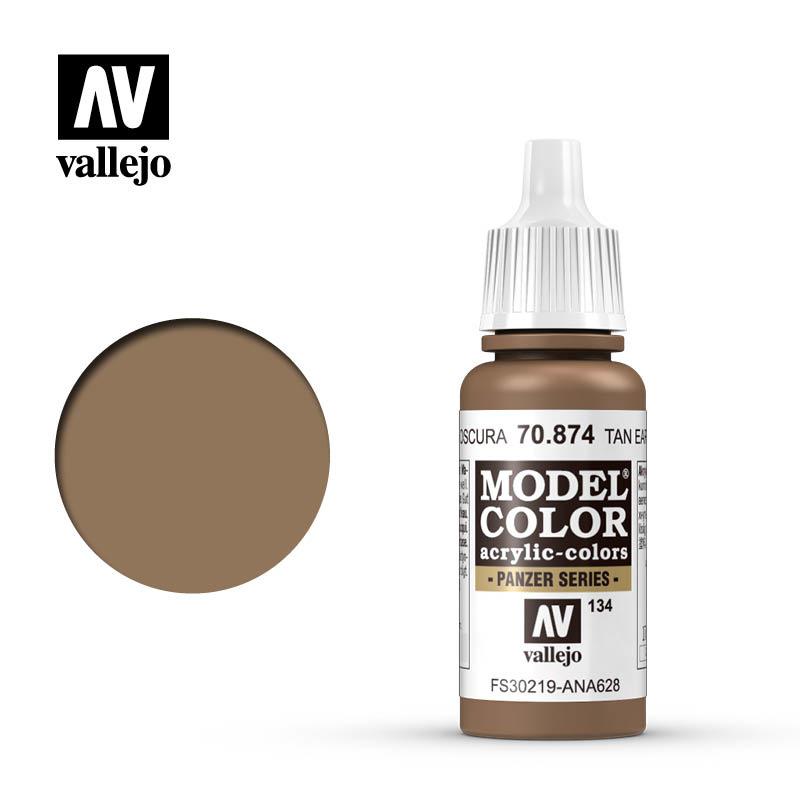 Vallejo Model Color - Usa Tan Earth - 17 ml - Vallejo - VAL-70874